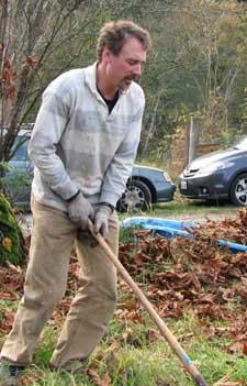 Eric digging
